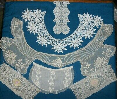 Antique Victorian-Edwardian-French Lace Collars Some Matching Cuffs 33 pc.>-))'