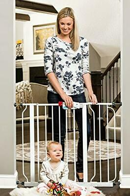 Regalo Easy Step 38.5-Inch Extra Wide Baby Gate, Bonus Kit, Includes 6-Inch Exte