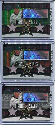 2006 ROBINSON CANO Triple Threads 2x Game-Used YANKEES Autograph Signature #/225
