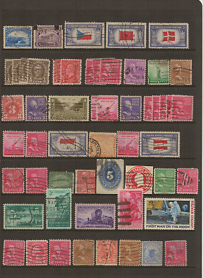 UNITED STATES of AMERICA - Good selection of USED Stamps
