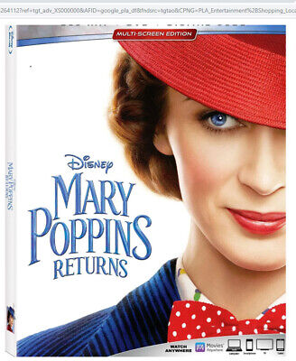 Disney's MARY POPPINS RETURNS Blu-ray and DVD and Digiatl NEW