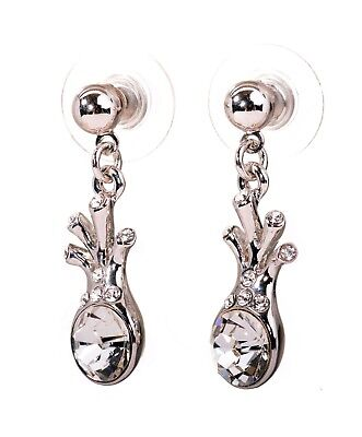 Fashion Jewelry Earrings Swarovski Elements Crystal Brilliance Heart Drop Earrings Gold Authentic 7346c