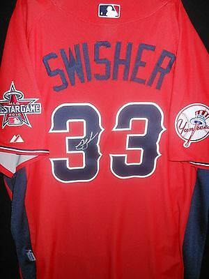bfdb7b70a Nick Swisher Signed 2010 All Star Jersey Auth. Majestic Ny Yankees-Very  Rare!