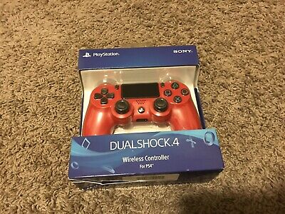 Sony DualShock 4 Wireless Controller Playstation 4 Magma Red (CUH-ZCT2U) NEW