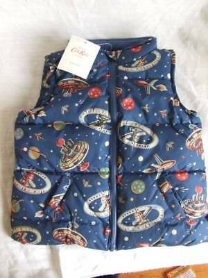 New Cath Kidston Boys Padded Vest  3-4 years Space Navy