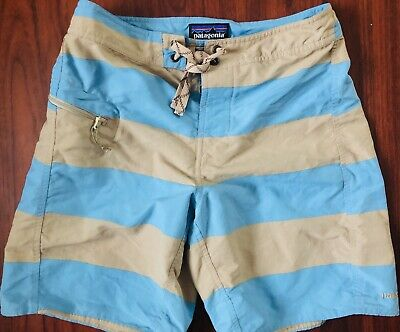 033e58f916ab3 Patagonia One Pocket Board Shorts Blue Mens Size 28 Swim Trunks 100% Nylon