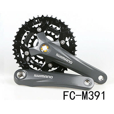 Shimano Acera FC-M391 9-Speed Chainsets MTB 48x36x26T 170MM Silver With Cover
