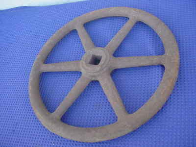 "Industrial Handwheel 18"" Diameter Cast Iron With 1 1/4""  Square Hole  Steampunk"