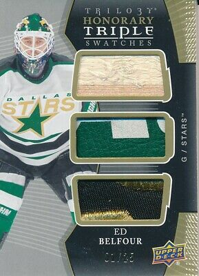 2018/19 Upper Deck Trilogy HTS-EB Ed Belfour Honorary Triple Swatches Insert
