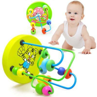 Children Kids Baby Colorful Wooden Mini Around Beads Educational Game Toy HOT JS