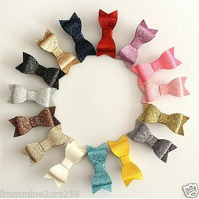 Baby Toddler Kids Girls Glitter Bow Bowknot Hair Clips Barrettes Accessories