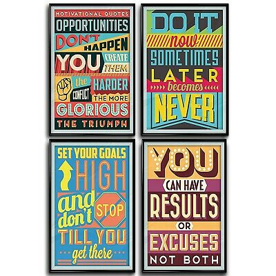 Quotes Wall Decor Art Motivational Inspirational Positive Vibes Poster Prints
