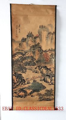 Old Collection Scroll Chinese Painting /Character Landscape Painting