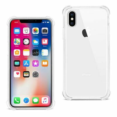 REIKO iPhone X/iPhone XS CLEAR BUMPER CASE WITH AIR CUSHION PROTECTION IN CLEAR