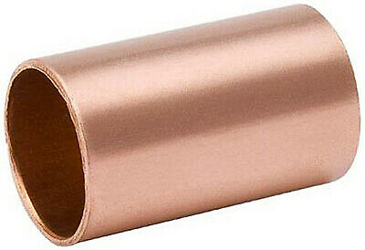 Pipe Coupling Without Stop, Wrot Copper, 1/2-In.