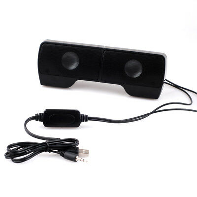 USB 2.0 Wired Mini Computer Speakers Stereo Bass Music Player For Laptop PC I0C6