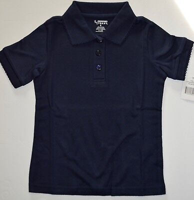 70f31a57 FRENCH TOAST Short Sleeve Picot Collar Polo Shirt School Uniform Top Navy  Size 5