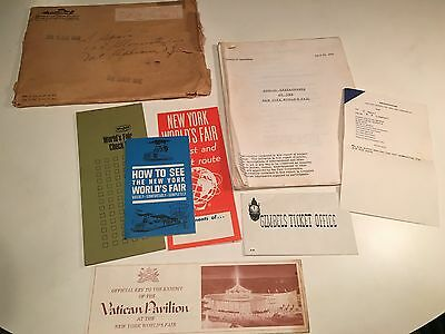 1964-1965 New York World's Fair Original Press Report Public Restaurants Menus
