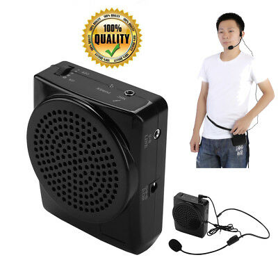Portable Waistband Voice Booster Amplifier Microphone for Teaching Speaker UK
