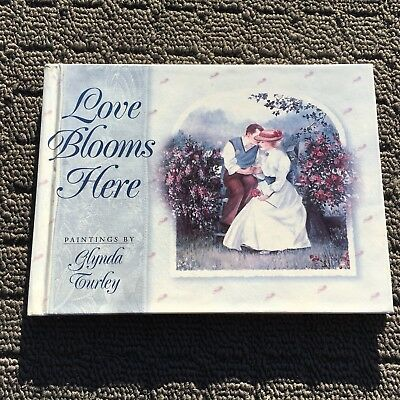LOVE BLOOMS HERE Beautiful Paintings & Quotations Gift Book (1997) Hardcover