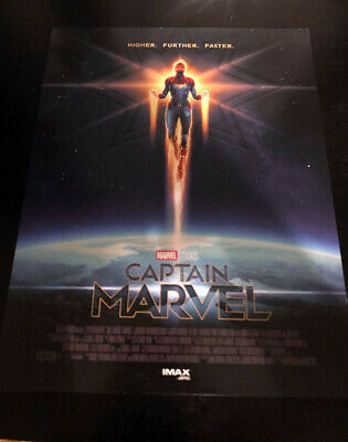 "CAPTAIN MARVEL AMC IMAX 8.5"" X 11"" Poster Lot of 3 - MARVEL STUDIOS Brie Larson"