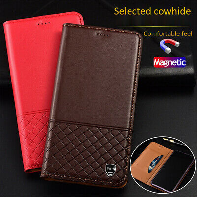 Real Leather Flip Case Wallet Cover For Samsung Galaxy S10 E Plus A 10 20 30 50