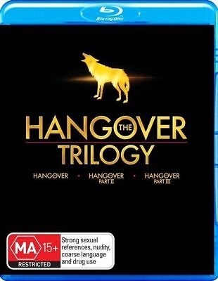 The Hangover Trilogy (Blu-ray, 3-Disc Set) NEW