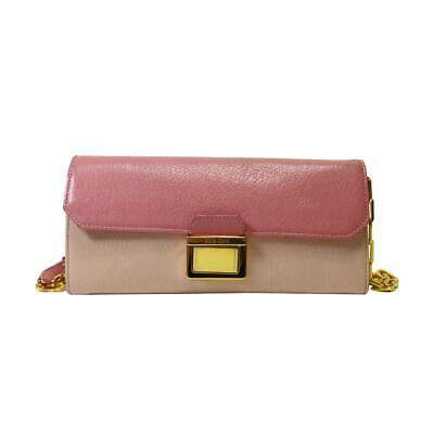 7ea7885d5d72e0 Auth miu miu Wallet on a Chain WOC Shoulder Bag Pink Leather Used Vintage