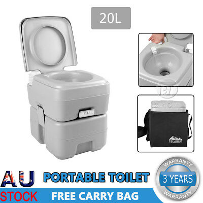 20L Outdoor Portable Toilet Camping Potty Caravan Travel Camp Boating Carry Bag