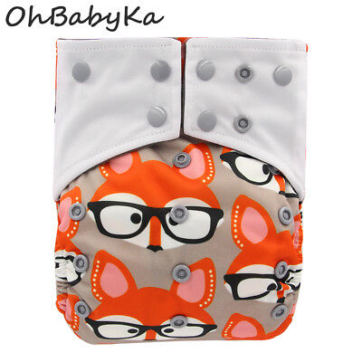 Baby Charcoal Bamboo AIO Cloth Diapers Sewn Insert Baby Nappies Pocket Diapers