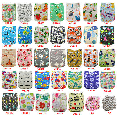 Unicorn Boy Girl Cloth Diapers Pocket Diapers Baby Nappies Unisex Washable Nappy