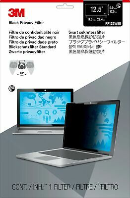 """New  3M Privacy Filter For 12.5"""" Edge-To-Edge Widescreen Laptop 98044064362"""