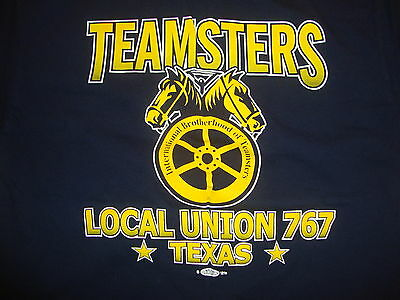 MEN'S VINTAGE UNION Made Teamsters Local 657 Navy Blue T
