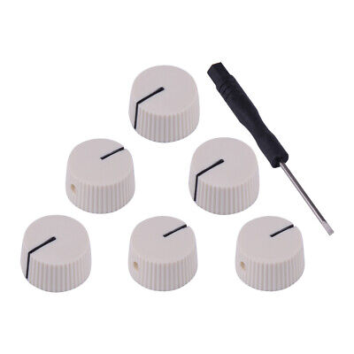 Pack of 6pcs Chicken Head Knobs Guitar Amp Knobs Amplifier Control Knobs White