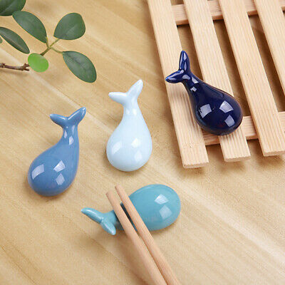 Animal Ceramic Chopsticks Spoon Fork Holder Kitchen Chopstick Rest Stand ^S
