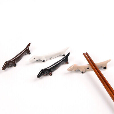 1X Animal Ceramic Chopsticks Spoon Fork Holder Kitchen Chopstick Rest Stand ^S
