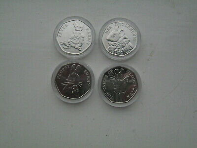 Peter Rabbit,Mrs Tittlemouse,The Tailor of Gloucester and Flopsy Bunny Set 50p's