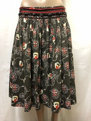 Veronika Maine Skirt Womens ~ Size 12 ~ Exc Cond Floral Design Business Casual