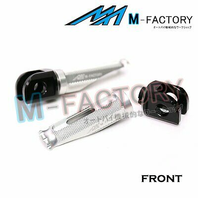 Silver Front Racing Foot Pegs Fit MV Agusta Brutale 675 12-16