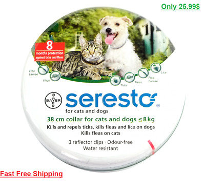 Seresto/Foresto Bayer Flea Tick Collar 38cm For Small Medium Dogs/Cats Free Ship