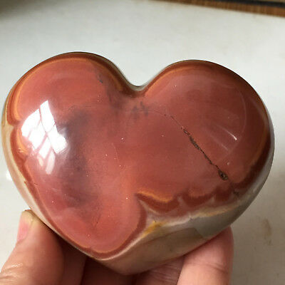 NATURAL POLISHED POLYCHROME JASPER HEART From Madagascar  284g  A10710