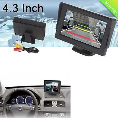 4.3 inch LCD Mirror Monitor Rear View System Wireless Backup Reverse Camera US