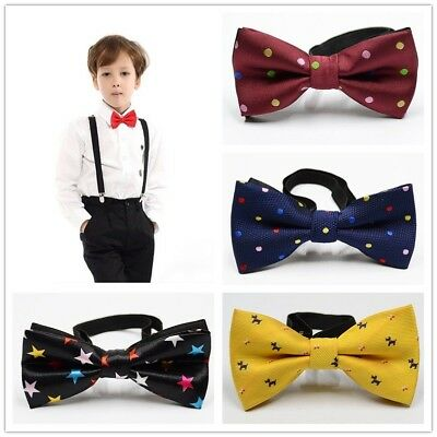 UK Baby Kids Toddler Boy Girl Party Bowtie Pre Tied Wedding Bow Tie Necktie Hot