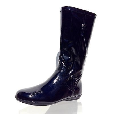 65271355428 WOMEN S SHOES Nordstrom Shiny Black Midcalf Black Boots Size 6 M NEW ...