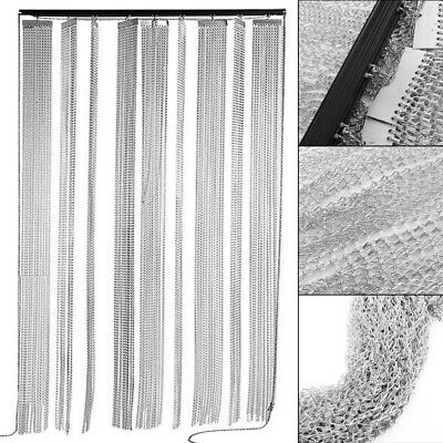 215x90CM Aluminum Door Curtain Metal Chain Fly Insect Blinds Screen Pest Control