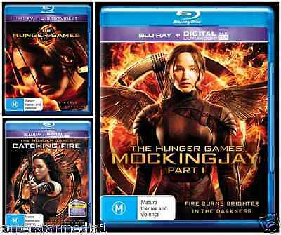 The Hunger Games 1+2+3 (Hunger Games + Catching Fire + Mockingjay) : NEW Blu-Ray