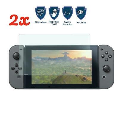 Nintendo Switch Console PREMIUM TEMPERED GLASS 2 Pack Screen Protector Cover
