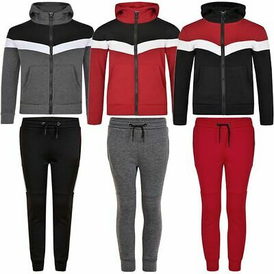 Kids Hooded Top or Bottoms Girls Boys Tracksuit Sweater or Trousers Pants 3-14 Y