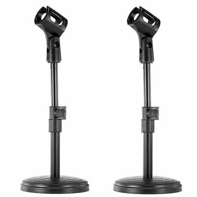 Neewer 2pcs Black Iron Base Desktop Microphone Monopod Stands with Mic Holder
