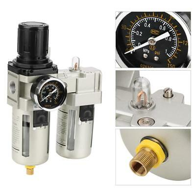 G1/2 Overflow Air Source Gas Treatment Unit Filter Pressure Regulator With Gauge